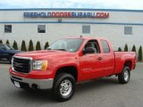 2007 Fire Red GMC Sierra 2500HD SLE Extended Cab 4x4 #62194731