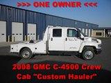 2008 GMC C Series Topkick C4500 Crew Cab Trailer Truck