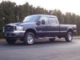 2004 True Blue Metallic Ford F250 Super Duty Lariat Crew Cab 4x4 #62194321