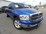 2008 Electric Blue Pearl Dodge Ram 1500 SLT Quad Cab #62194319