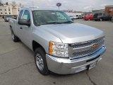 2012 Silver Ice Metallic Chevrolet Silverado 1500 LS Extended Cab #62243850