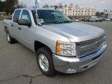 2012 Silver Ice Metallic Chevrolet Silverado 1500 LT Crew Cab 4x4 #62243841