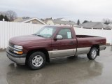 2002 Dark Carmine Red Metallic Chevrolet Silverado 1500 LS Regular Cab #62244155