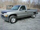 2001 Light Pewter Metallic Chevrolet Silverado 1500 Regular Cab 4x4 #62244110