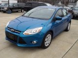 2012 Blue Candy Metallic Ford Focus SE Sedan #62243809