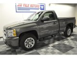 2011 Steel Green Metallic Chevrolet Silverado 1500 LS Regular Cab #62244104