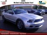 2011 Ingot Silver Metallic Ford Mustang V6 Premium Convertible #62244068