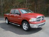 2009 Inferno Red Crystal Pearl Dodge Ram 1500 Big Horn Edition Crew Cab 4x4 #62244049