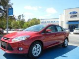 2012 Red Candy Metallic Ford Focus SEL Sedan #62243421