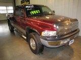2001 Dark Garnet Red Pearl Dodge Ram 1500 ST Club Cab 4x4 #62243722