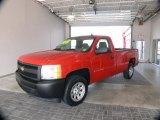 2007 Victory Red Chevrolet Silverado 1500 Work Truck Regular Cab #62312847