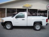 2012 Summit White Chevrolet Silverado 1500 Work Truck Regular Cab 4x4 #62312478