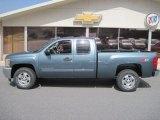 2012 Blue Granite Metallic Chevrolet Silverado 1500 LT Extended Cab 4x4 #62312472