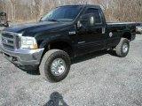 2002 Black Ford F250 Super Duty XLT Regular Cab 4x4 #62312753