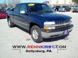 1999 Indigo Blue Metallic Chevrolet Silverado 1500 LS Extended Cab 4x4 #62312399
