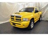 2005 Solar Yellow Dodge Ram 1500 SLT Rumble Bee Regular Cab 4x4 #62312003