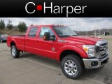 2012 Vermillion Red Ford F350 Super Duty Lariat Crew Cab 4x4 #62311957