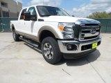 2012 White Platinum Metallic Tri-Coat Ford F250 Super Duty Lariat Crew Cab 4x4 #62312247