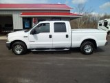 2002 Oxford White Ford F250 Super Duty Lariat Crew Cab #62378009
