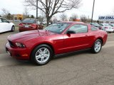 2011 Red Candy Metallic Ford Mustang V6 Coupe #62377400