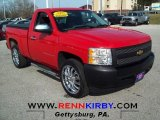2008 Victory Red Chevrolet Silverado 1500 Work Truck Regular Cab #62377705