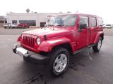 2012 Flame Red Jeep Wrangler Unlimited Sahara 4x4 #62377623