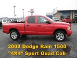 2002 Flame Red Dodge Ram 1500 Sport Quad Cab 4x4 #62377906