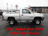 2001 Bright Silver Metallic Dodge Ram 1500 Regular Cab 4x4 #62377904