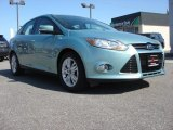 2012 Frosted Glass Metallic Ford Focus SEL Sedan #62377257