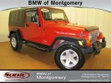 2006 Flame Red Jeep Wrangler Unlimited Rubicon 4x4 #62377582