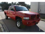 1999 Flame Red Dodge Ram 1500 Sport Extended Cab 4x4 #62377856
