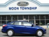 2012 Sonic Blue Metallic Ford Focus SE SFE Sedan #62377514