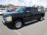 2009 Black Chevrolet Silverado 1500 LS Crew Cab #62377790