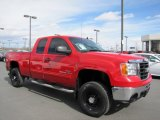 2007 Fire Red GMC Sierra 2500HD SLE Extended Cab 4x4 #62377746