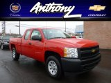 2012 Victory Red Chevrolet Silverado 1500 Work Truck Extended Cab 4x4 #62434701