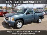 2007 Blue Granite Metallic Chevrolet Silverado 1500 LT Z71 Regular Cab 4x4 #62434128