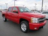 2008 Victory Red Chevrolet Silverado 1500 LTZ Crew Cab 4x4 #62434393