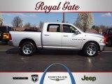 2011 Bright Silver Metallic Dodge Ram 1500 Laramie Crew Cab 4x4 #62434653