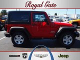 2012 Flame Red Jeep Wrangler Sport S 4x4 #62434647