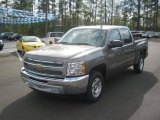 2012 Mocha Steel Metallic Chevrolet Silverado 1500 LT Crew Cab #62434501