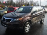 2011 Dark Cherry Kia Sorento LX AWD #62491214