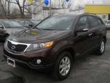 2011 Dark Cherry Kia Sorento LX AWD #62491205
