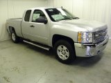 2012 Silver Ice Metallic Chevrolet Silverado 1500 LT Extended Cab 4x4 #62508070