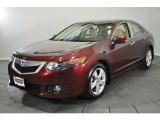 2009 Basque Red Pearl Acura TSX Sedan #62518776