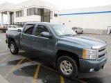 2009 Blue Granite Metallic Chevrolet Silverado 1500 LTZ Crew Cab 4x4 #62530651