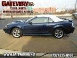 2001 True Blue Metallic Ford Mustang GT Convertible #62530963