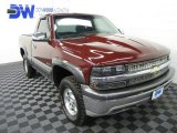 2001 Dark Carmine Red Metallic Chevrolet Silverado 1500 LS Regular Cab 4x4 #62530606