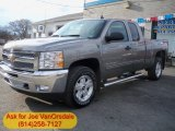 2012 Graystone Metallic Chevrolet Silverado 1500 LT Extended Cab 4x4 #62530194