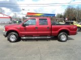 Toreador Red Metallic Ford F250 Super Duty in 2003