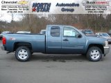 2012 Blue Granite Metallic Chevrolet Silverado 1500 LT Extended Cab 4x4 #62530415